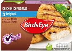 Birds Eye Chicken (76%) Chargrills Original (5 per pack = 455g) was £3.39 now £2.00 @ Morrisons