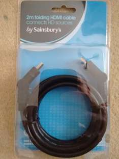 HDMI 2m cables, normal and angled connectors @ Sainsbury's Springfield, Essex