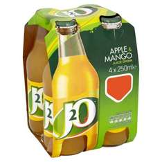 J2O Apple & Mango 4*250ml 59p each or 2for£1 Heron in store