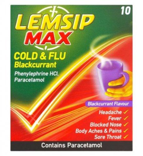lemsip cold & flu blackcurrant 33p Superdrug in store