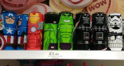 Marvel/Star Wars lidded sipper cups £1.99 @ HomeBargains store