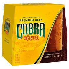 Cobra beer 12 bottles for £8 reduced from £12 at Morissons