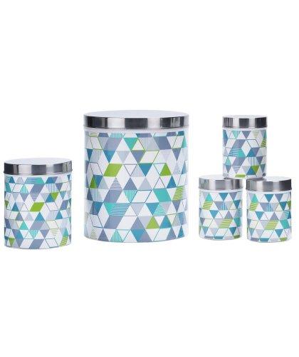 Colour match 5 Piece Geo Kitchen Set Blue Green £6.99 @ Argos