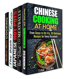 Chinese, Italian-Inspired, Japanese, Mexican and Indian Recipes (Authentic Meals & Traditional Recipes) Kindle Edition  - Free Download  @ Amazon