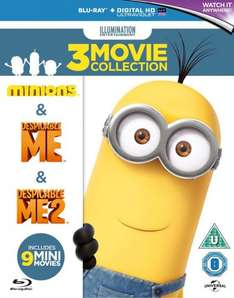 Minions Collection £15.00 for Prime / £16.99 non prime (Despicable Me/Despicable Me 2/Minions) [Blu-ray] [2015] [Region Free]