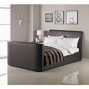 Hygena Lamberto Double TV Bed - Chocolate £261.94 + £6.95 Delivery @ Argos
