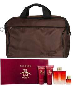 Penguin Reserve 100ml EDT,7.5ml Mini,90ml Shower Gel,90ml Aftershave Balm and free Penguin Branded Laptop case £19.99@thefragranceshop with free click and collect or £2.99 postage. Possible 7% Quidco