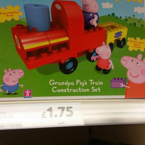 Peppa pig construction grandpa pigs train £1.75 @ Tesco instore