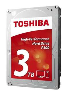"Toshiba P300 3TB 7200RPM 3.5"" SATA Hard Drive £69.99 @ Amazon"