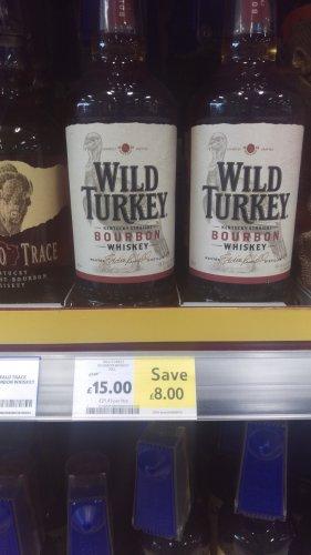 Wild Turkey 81 bourbon whiskey 70cl £15 @ tesco