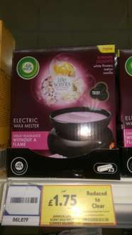 airwick life scent wax melter with 3 refills was £7 now £1.75 @ Tesco