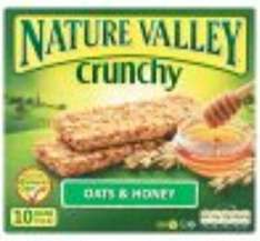 Nature Valley Bars (box of 5) for £1.19 - Tesco instore and online