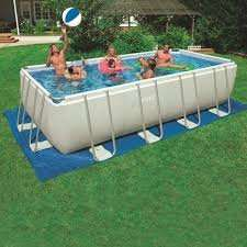 Intex 18 x 9ft (5.5 x 2.7M) Rectangular Ultra Frame Metal Pool + Sand Filter Pump + Accessories £399.99 delivered @ Costco