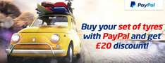 £20 off set of 4 tyres at Oponeo.co.uk when you pay with PayPal