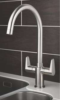 Swirl Rapture Double Lever Mono Mixer Kitchen Tap for £19.99 at Screwfix (Free C+C)