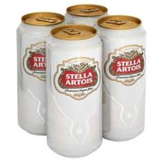 Exclusively for Prime & Fresh members: Stella Artois Lager Beer Can, 4 x 440ml - £1.75 at Amazon Fresh (& more)