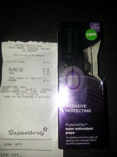 Intensive Protecting Serum PhytoCellTec super antoxidant Grape serum £1.30 @ Superdrug