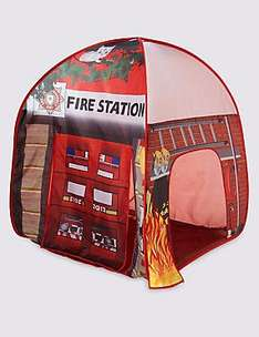 Pop Up Fire Station Play Tent was £20 now £10 C+C @ M&S