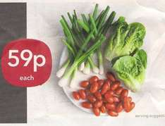 250g Baby plum tomatoes / Also 125g trimmed salad (Spring) onions or 2 Little gem lettuce 59p @ Co-op