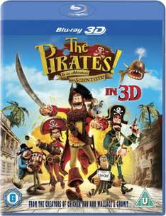 The Pirates! In An Adventure With Scientists 3D - Blu-ray £4.29 zavvi ebay outlet!