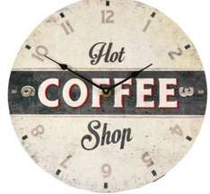 HOT COFFEE SHOP SLOGAN RETRO MULTICOLOUR WALL CLOCK Was £7 now £2.50 @ B&Q - Free c&c