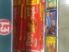 Buy one get one free (instore only) (ten per multipack) foxes biscuit bars £1 poundland