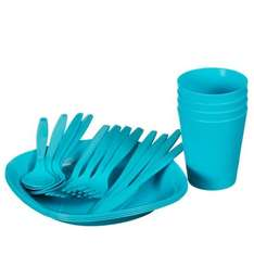 Plastic Dinner Set 16pc £1 and  21pc set for £1.50 @B&M