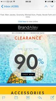 Brand alley Up to 90% off