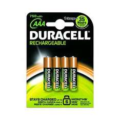 Duracell AAA rechargeable batteries Half Price £2.96 toysrus