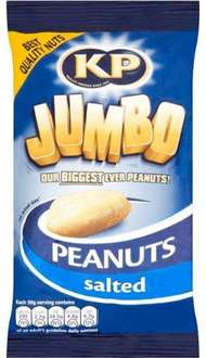 KP Jumbo Salted / Dry Roasted Peanuts (200g) was £1.00 now 2 for £1.50 @ Iceland
