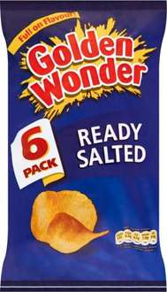 Golden Wonder Ready Salted Crisps / Cheese & Onion (6 x 25g) was £1.00 now 2 packs for £1.50 @ Iceland