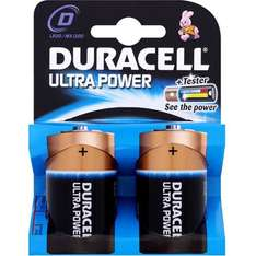 D-Type Duracell Ultra batteries - 2 pack 96p toysrus - Free c&c