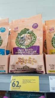 Harringtons cat treats with liver 62p @ morrisons