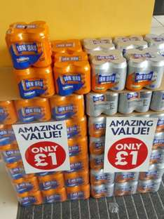 Bargain 4 pack irn bru or rubicon cans  £1 nationwide  poundworld