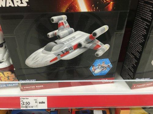 Star Wars X-fighter Rider £2.50 @ Asda Robroyston