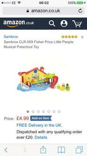 Fisher price little people preschool