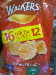 Walkers 16 pack £2.50, two for £3 @ Iceland