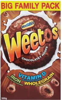 Weetabix Chocolate Weetos (500g) ONLY £1.00 @ Morrisons