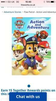 Paw patrol action and adventure book online at the works £3 - Free c&c