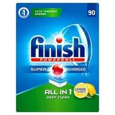 90 Finish Powerball All in 1 Lemon Sparkle Dishwasher Tablets £9.00 @ Asda