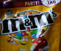 Party peanut MnMs 1kg £2 in store Tesco Dundee