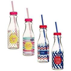 Plastic Printed Retro Bottle with Straw  10p @b&m.  50p deals in comments