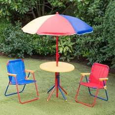 Kids Club Patio Set 4pc  b&m  reduced to 4.99 from 12.99