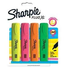 Sharpie Fluo Xl Highlighter, (4 Pack) was £4.00 now £2.00 (+£2 C&C) @ Tesco