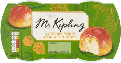 Mr. Kipling Exceedingly Good... Golden Syrup / Lemon / Cherry Bakewell / Raspberry Sponge Puddings (2 x 95g) ONLY £1.00 @ Asda