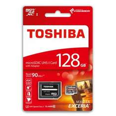 Toshiba 128GB Exceria Micro SDXC 4K Card with Adapter UHS-I U3 - 90MB/s at MyMemory - £24.99