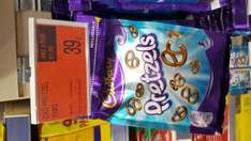 Cadbury chocolate pretzels 39p or 3 for £1 @ B&M