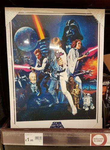 Star Wars A New Hope Canvas [30x40] £1.85 @ Wilko