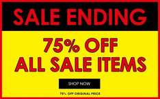 75% off all Sale items at Jones Bootmaker. For example Timberland Sandals