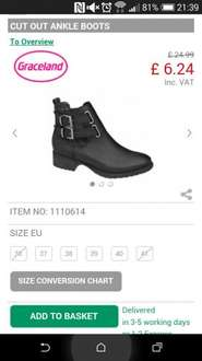 Ladies Ankle Boots Deichmann £6.24 delivered